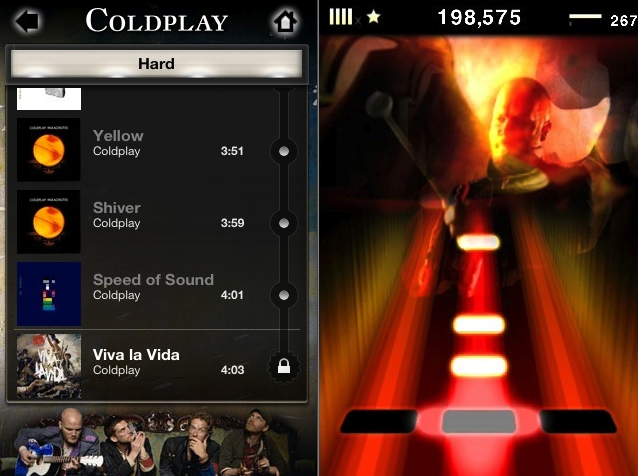 Tap Tap Revenge Coldplay Edition Now Available in App Store