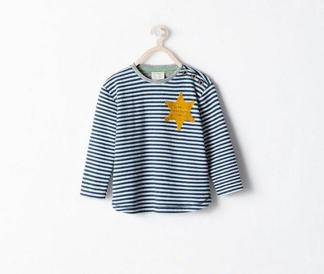 """Zara Yanks Its Holocaust-for-Kids """"Sheriff"""" Shirt from Store"""