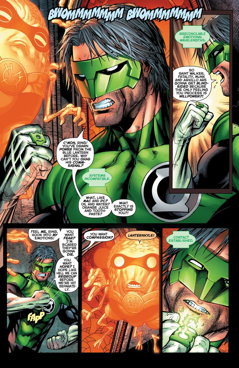 Can Green Lantern defeat a spaceship the size of a solar system?
