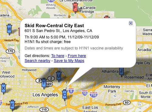 Find Nearby Flu Shots with Google Maps