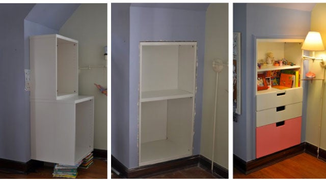 Build a Shelf and Storage Unit into a Wall