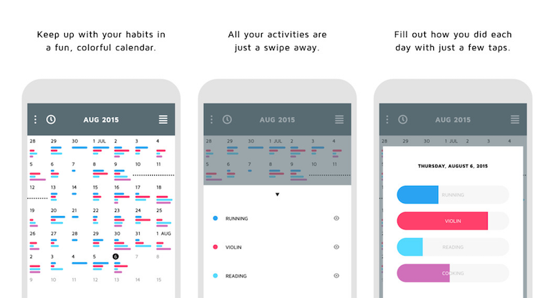 Continuo Tracks Habits In a Clean, Easily Accessible Calendar