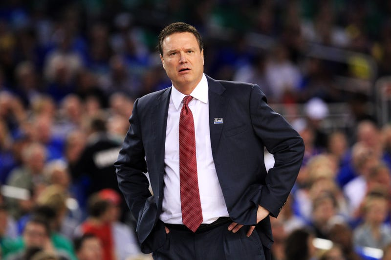NCAA Fines, Reprimands Bill Self For Striking A Scorer's Table