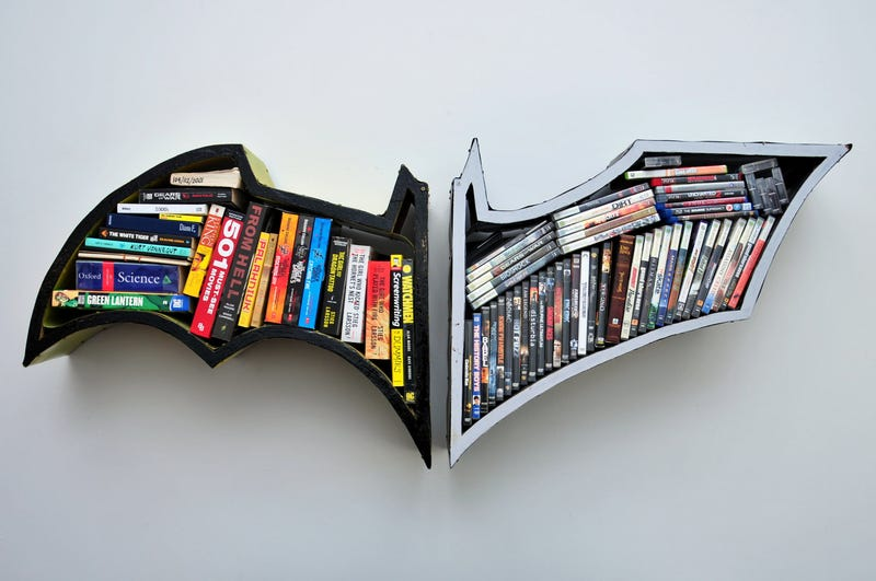 Batman bookshelves will keep your books safe at night