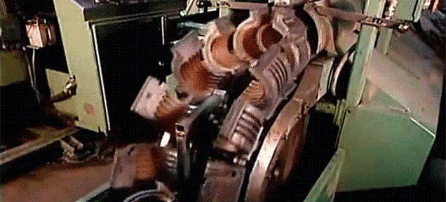 I never thought that a pipe making machine could be so relaxing to watch