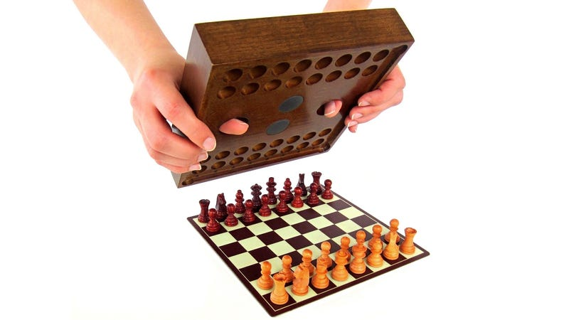 Clever Chess Set Is Already Set Up and Ready to Play When You Open the Box