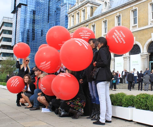 Nokia Gatecrashes HTC's London Event With Balloons and Cheek