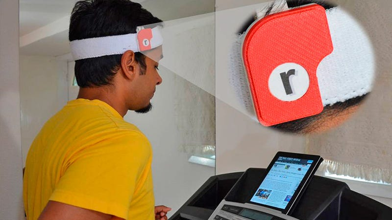 A Clip-On Motion Sensor That Lets You Read While Running