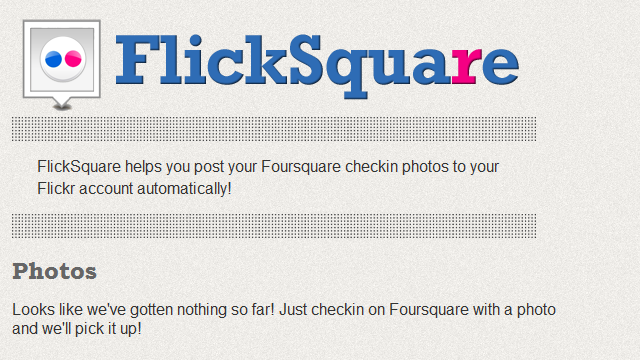 FlickSquare Automatically Posts Foursquare Photos To Flickr