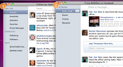 Trillian for Mac Hits Beta with Facebook and Twitter Integration