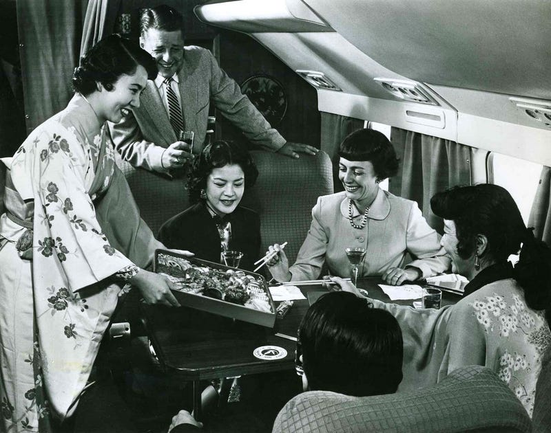 What flying First Class used to be like
