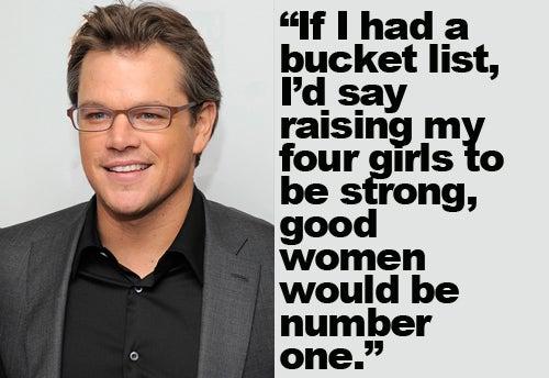 Matt Damon Makes His Daughters A Priority