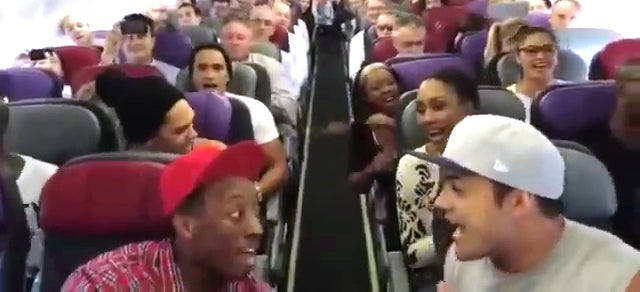 Listen to the awesome cast of The Lion King start singing on a plane