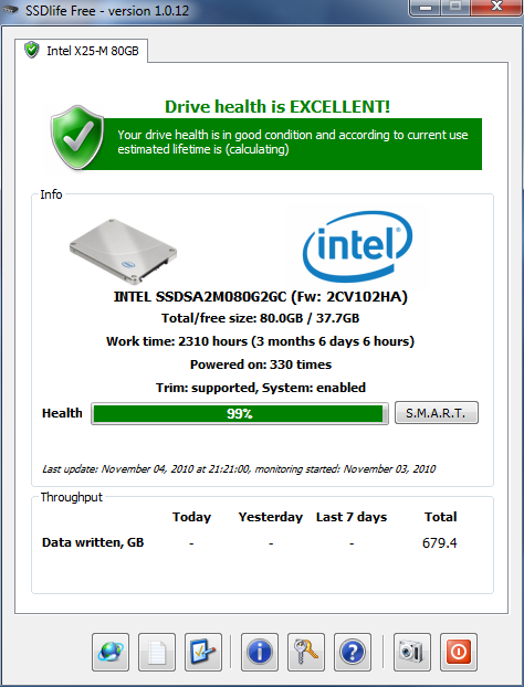 SSDLife Keeps You Informed of Your Solid-State Drive's Health and Lifespan