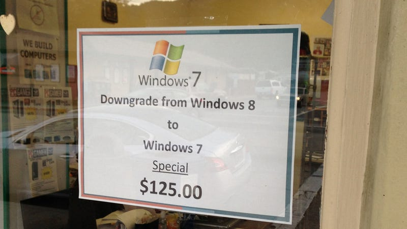 Some People Are Paying $125 to Downgrade From Windows 8 to Windows 7