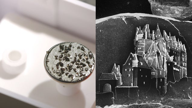 These Sand Castles Are Actually Castles Carved on Grains of Sand