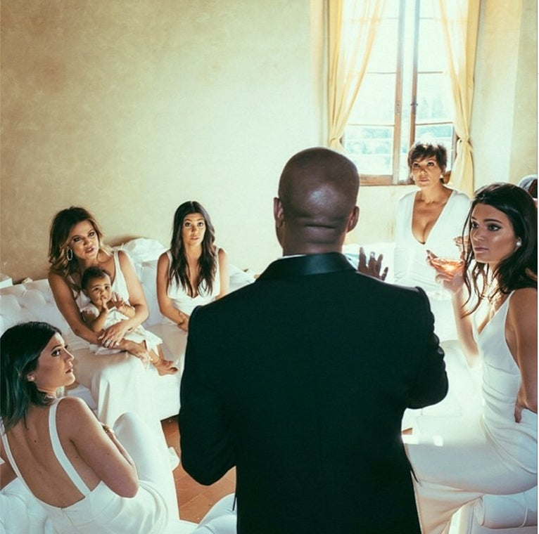 Everyone Looks Miserable at the Kardashian-West Wedding