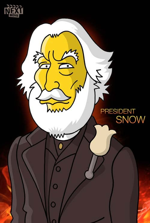 The Hunger Games stars get their inevitable (and awesome) Simpsons makeover