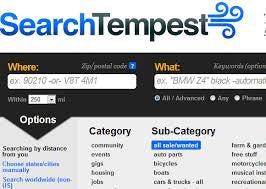 SearchTempest. A Craigslister's Best Friend