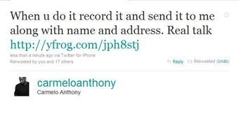 Need a Quick $5K? Ask 'Melo How! (Update: 'Melo's Saying He Got Hacked)