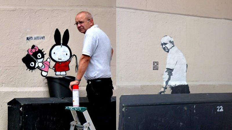 London Stencil Artist Taunts Man Who Buffed His Work