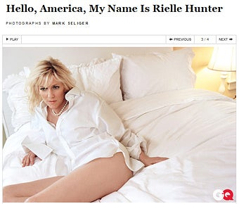 More From the GQ Rielle Hunter Interview