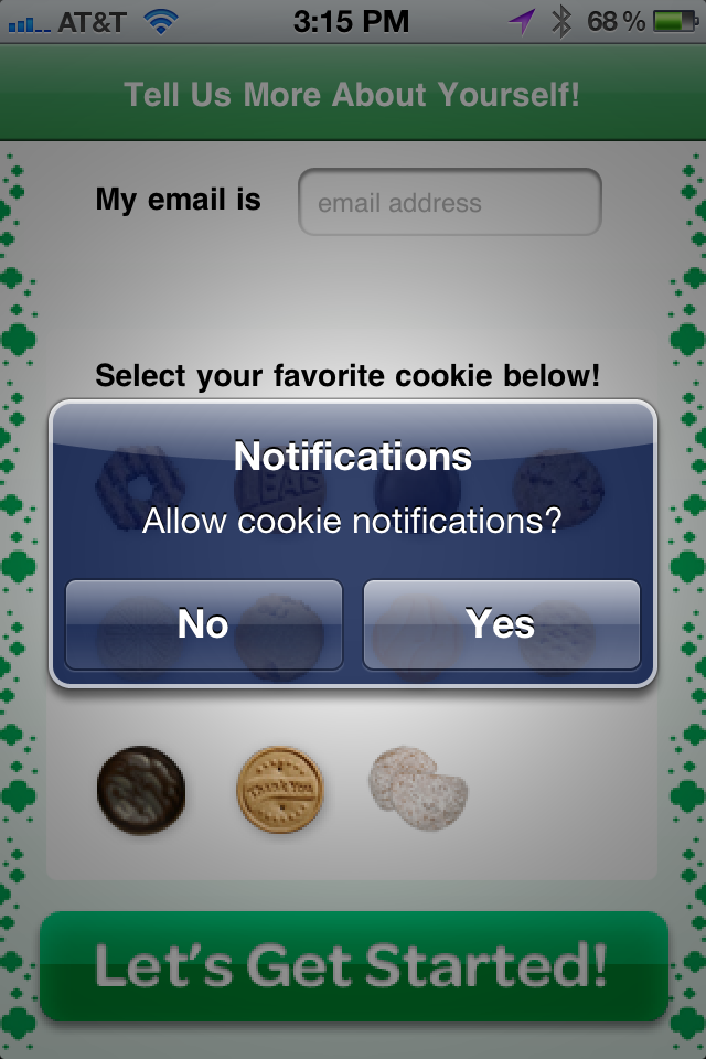 Cookie Finder App Gallery