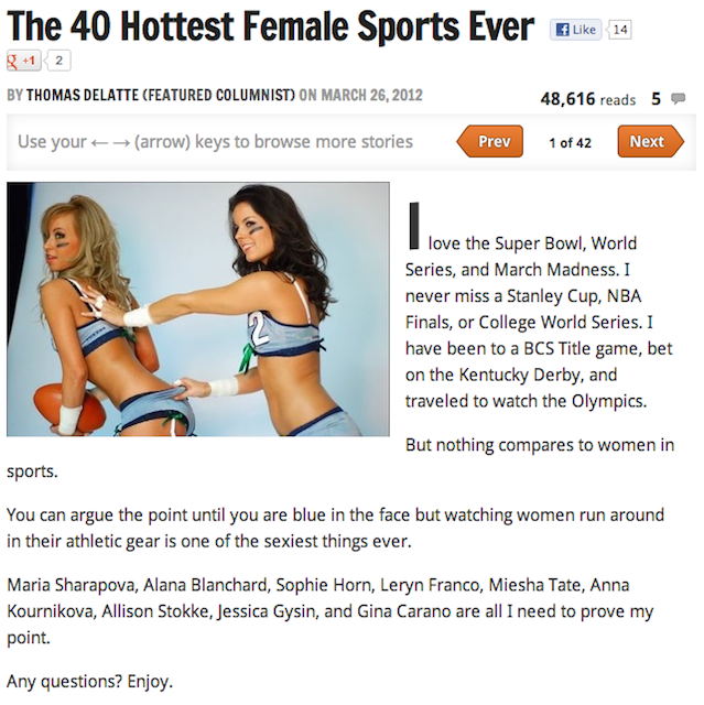 "The 25 Sexiest ""Sexiest Athlete"" Slideshows From Bleacher Report In 2012: A Slideshow"