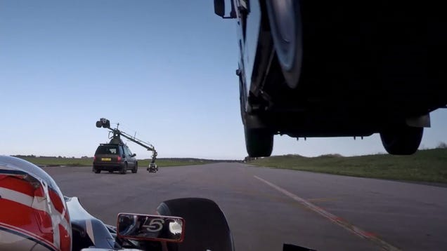 See How This Team Actually Jumped A Big Rig Over A Speeding F1 Car
