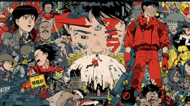 The entire film Akira condensed into one movie poster