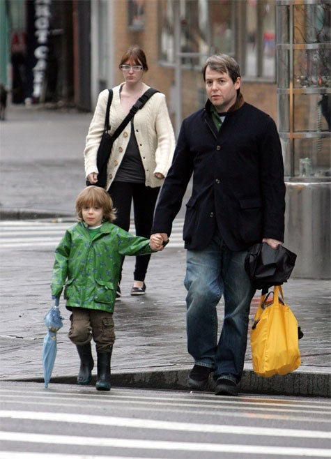 Matthew Broderick & Son: Dreary Day, Droopy Faces