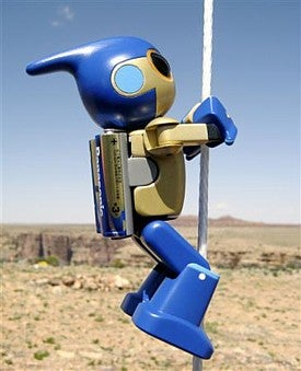 EVOLTA Robot Cliffhanger Channels Sly Stallone, Scales Grand Canyon