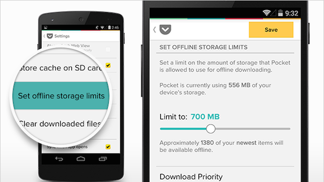 Pocket for Android Adds Storage Control, Quick Deleting, and More