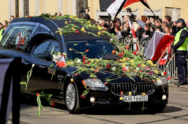 The Custom Hearses Of The Polish President's Funeral
