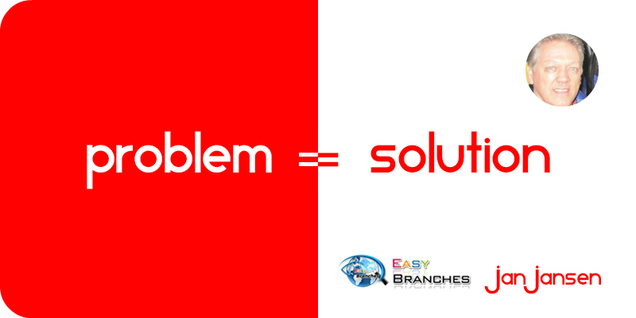 "We just have to Live with the Equation that ""Problem = Solution""."