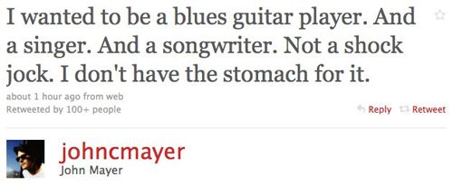 John Mayer Apologizes For Playboy Comments On Twitter