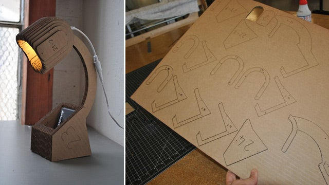 This Lamp Is Made From a Single Sheet of Cardboard