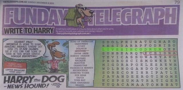 Puzzle Writer Sneaks 'Murdoch Is Evil' Into Murdoch-Owned Newspaper
