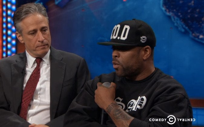 Here's Jon Stewart Interviewing the Whole Wu-Tang Clan