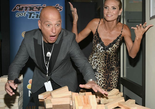 Caption This Beautiful Accident Howie Mandel and Heidi Klum Just Had