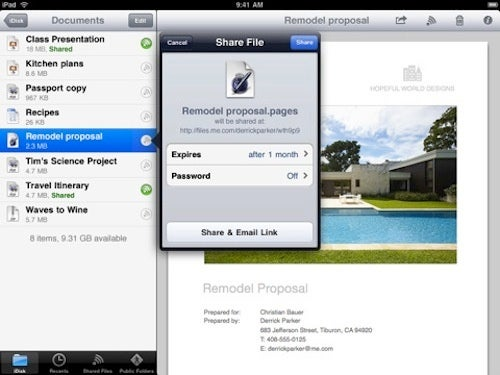 MobileMe iDisk iPad App Now Available
