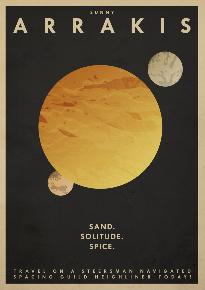 Take a vacation to Arrakis with Dune travel posters