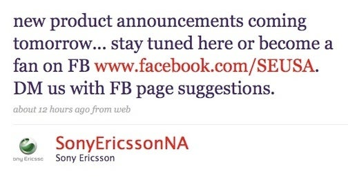 What Mystery Product Is Sony Ericsson Announcing Today? (UPDATED)