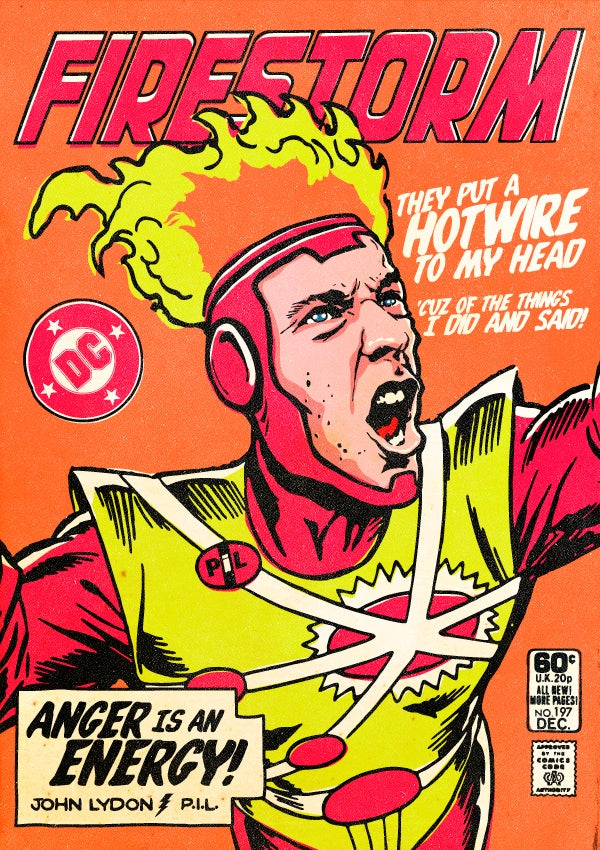 Post-Punk/New Wave Icons as Super Heroes