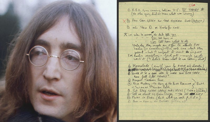 John Lennon's Boring To-Do List: 'HBO Guy Coming'
