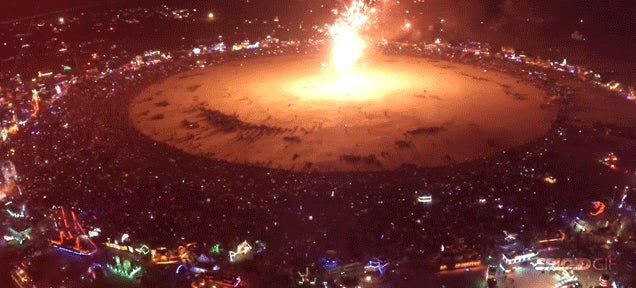 Burning Man ends like a scene from Close Encounters of the Third Kind