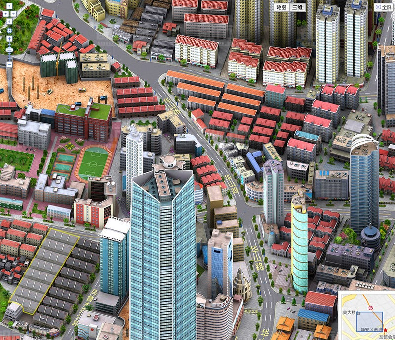 China Just Won SimCity With Censorship-Bypassing 3D Baidu Maps