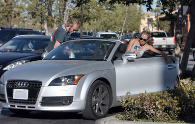Sienna Miller Drives An Audi TT