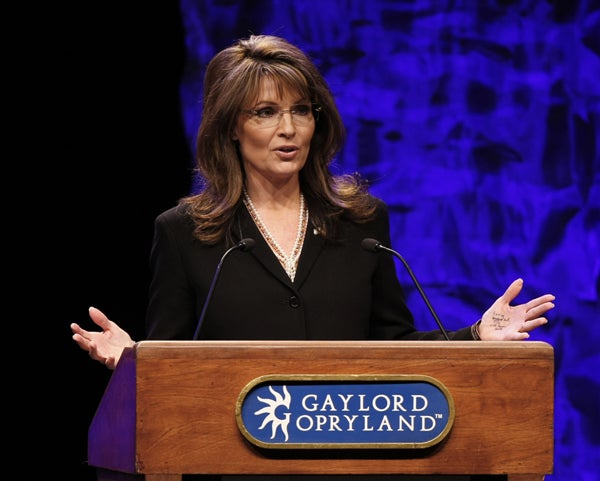 Did Sarah Palin Write Notes on Her Hand at the Tea Party Convention? (UPDATE: Yes!)