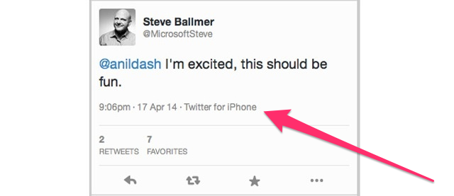 Looks Like Steve Ballmer's First Tweets Are From an iPhone (Updated)